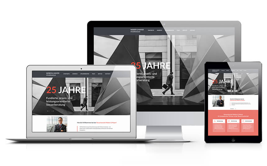 Professionelle Homepage - Weber